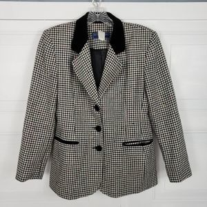 Norton Mc Naughton Houndstooth Blazer